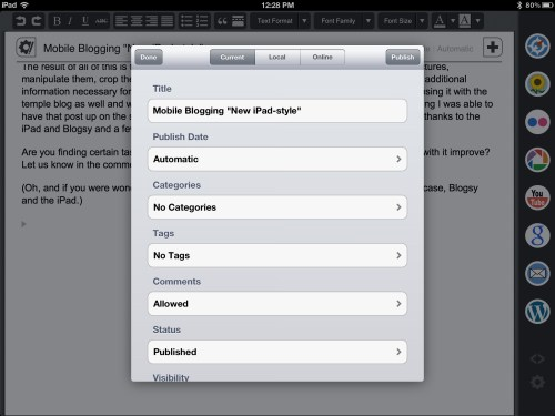 Mobile Blogging in 2012; What a Difference!
