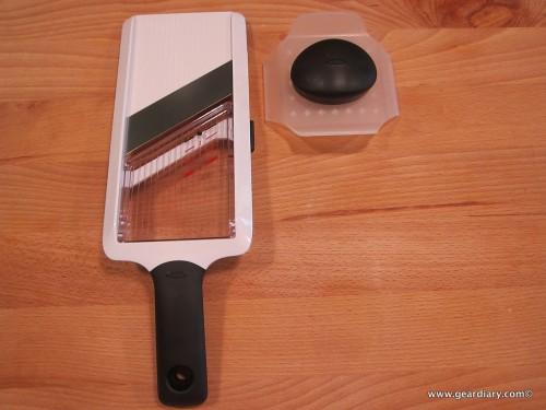 OXO GoodGrips Handheld Mandoline is a Finger Saver