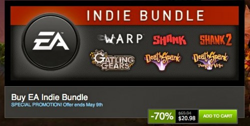 Apparently 'Indie Bundles' Are Now Big Enough That EA Feels the Need to Ruin Them!