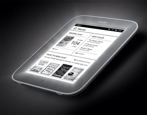 Barnes & Noble NOOK with Glowlight Breaks into Television