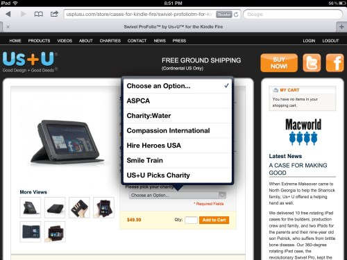Us+U Swivel Portfolio for Kindle Fire Review