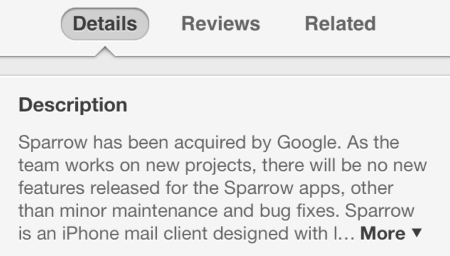 Google Buys Sparrow and… No, Actually That's The Entire Thing  Google Buys Sparrow and… No, Actually That's The Entire Thing