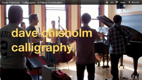 Dave Chisholm Releases 'Bonus Track' for Calligraphy