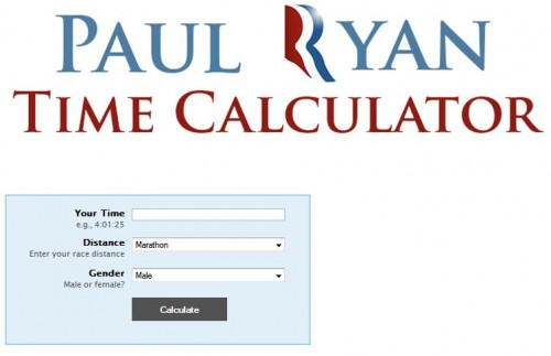 Get Your Marathon Time Estimated by Paul Ryan!