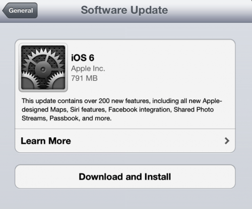 Apple iOS 6 Update Now Available for Download!