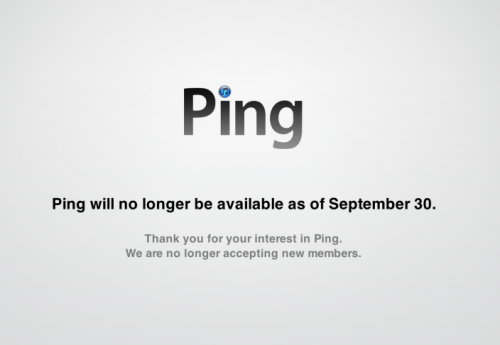 Apple's Ping to Cease Operation Sept 30 in Case You Care ... Which You Don't