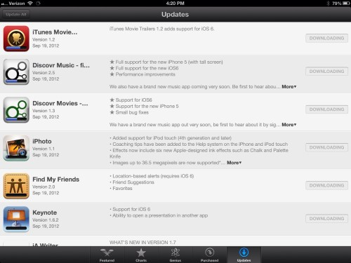 iOS 6 Brings Loads of SIGNIFICANT App Updates