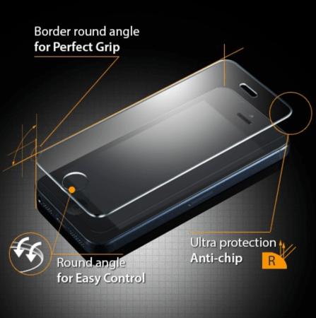 Spigen SGP GLAStR Tempered Glass Screen Protector for iPhone 5  Spigen SGP GLAStR Tempered Glass Screen Protector for iPhone 5