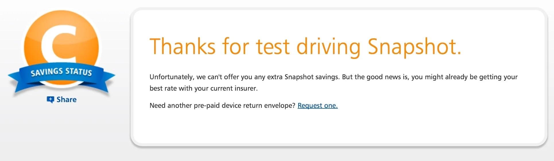 Progressive Snapshot Beeps >> how am I driving