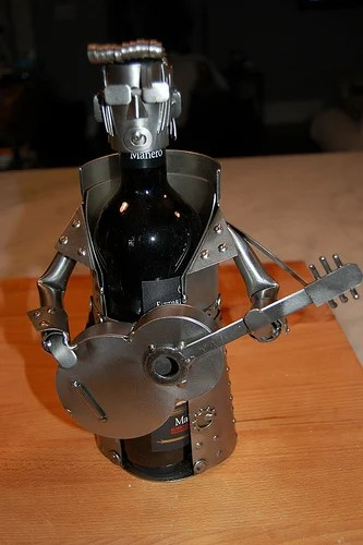 Wine Caddys from H & K Steel Sculptures: Protect Your Bottle!