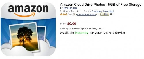 New Amazon Android App Lets You Update Your Photos to Your Amazon Cloud