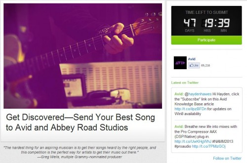 AVID Teams with Katy Perry & Adele's Producer for Online Talent Competition
