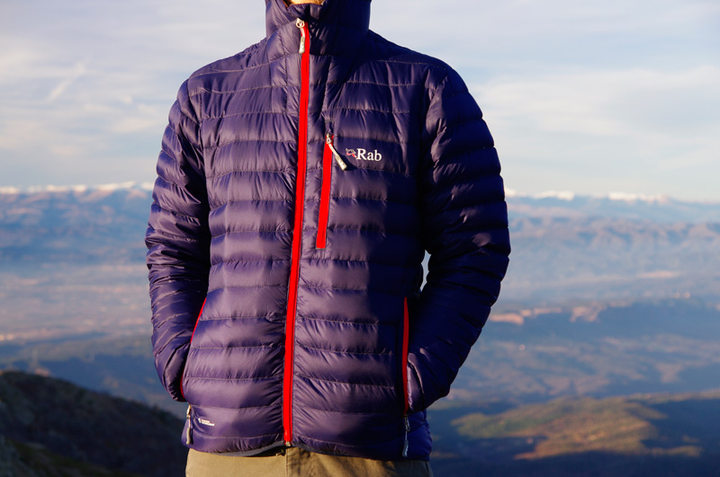 Rab Microlight Alpine down jacket front