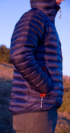 Rab Microlight Alpine down jacket side