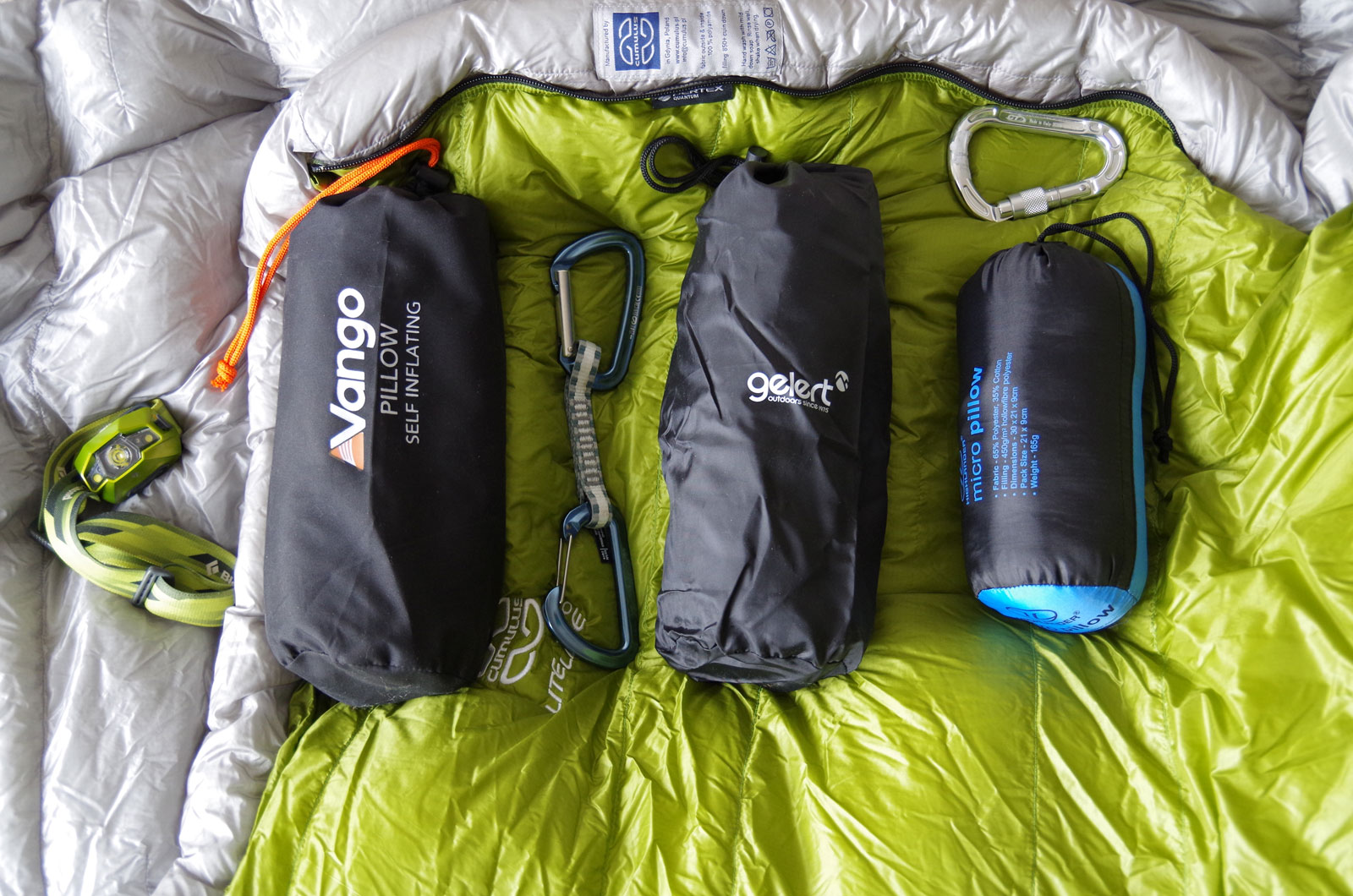 Grey Highlander Travel//Camping Polycotton Pillow with Stuff Sac