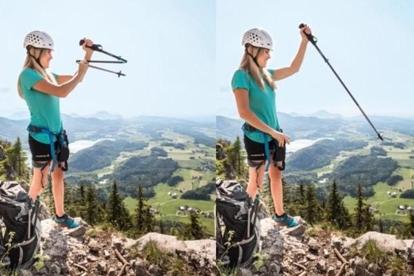 Self-Deploying Hiking Poles