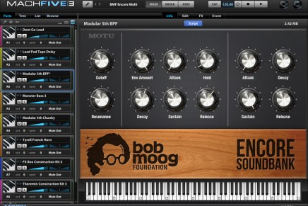 MOTU Releases The Bob Moog Foundation Encore Soundbank