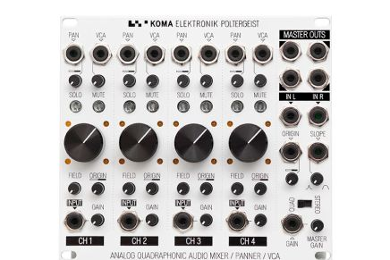 KOMA Elektronik POLTERGEIST Quadraphonic mixer is now officially shipping