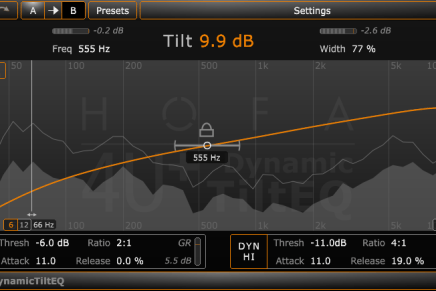 HOFA-Plugins releases 4U+ DynamicTiltEQ