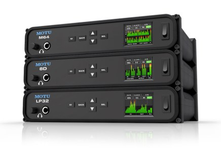 MOTU announces three new audio interfaces the M64, 8D and LP32