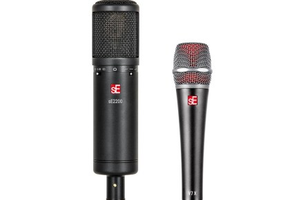 sE Electronics announces updated sE2200 condenser and new V7 X dynamic Instrument microphone