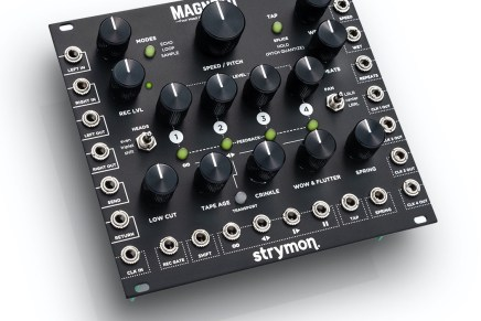 Strymon is proud to announce availability of Magneto – Four Head dTape Echo & Looper Eurorack module