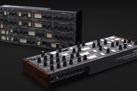 Preorder Black Corporation XERXES polyphonic synthesizer at Superbooth19