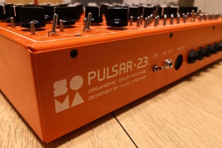 SOMA Laboratory shows the PULSAR-23 drum machine