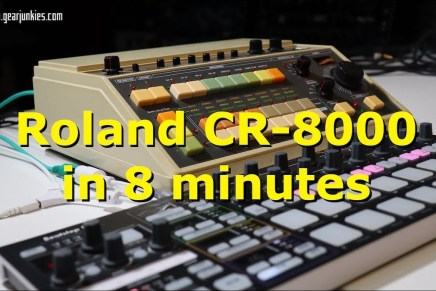 Roland CR- 8000 with Tubbutec niPulse in 8 minutes