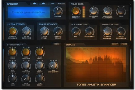 Tone2 Audiosoftware announce AkustiX Enhancer plugin