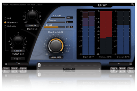 Flux Elixir Premier Real True Peak Multichannel Limiter Released