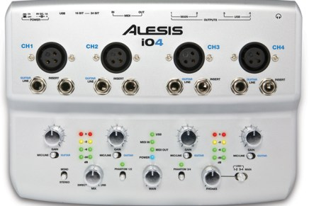 Alesis Ships iO4 24-bit USB Audio Interface