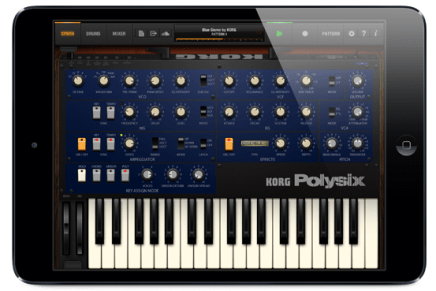 New KORG iPolysix polyphonic synth studio for iPad