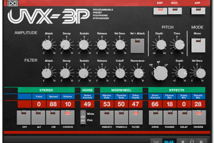 UVI releases UVX-3P Virtual Vintage Synth