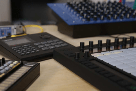 Ableton Push and Playing Hardware Drum Machines – Video