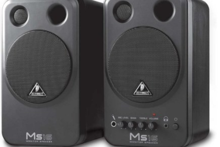 Behringer ships  MS16 speaker system and the DEQ1024 EQ