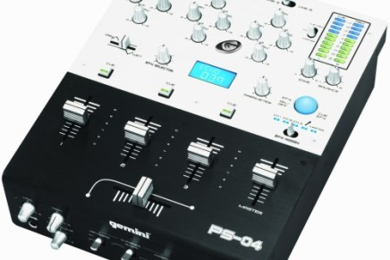 Gemini announces the PS-04 DJ mixer