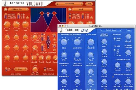 Updates for FabFilter One and FabFilter Volcano released
