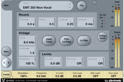 Two new ProTools Reverbs from TC Electronic