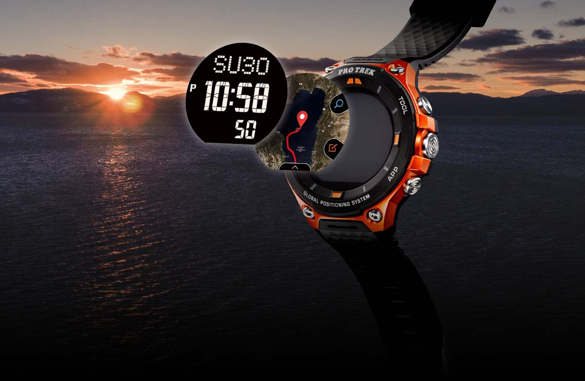 De Casio Pro Trek WSD-F20 smartwatch; een outdoorhorloge op Android Wear