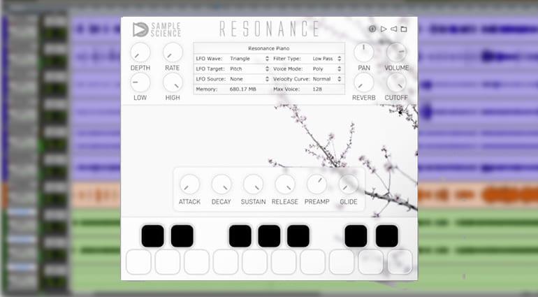 sample science resonance plug-in GUI
