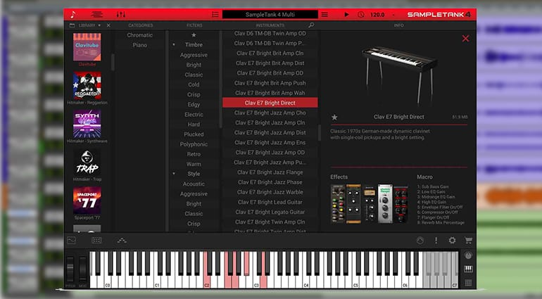ik multimedia clavitube sample pack GUI