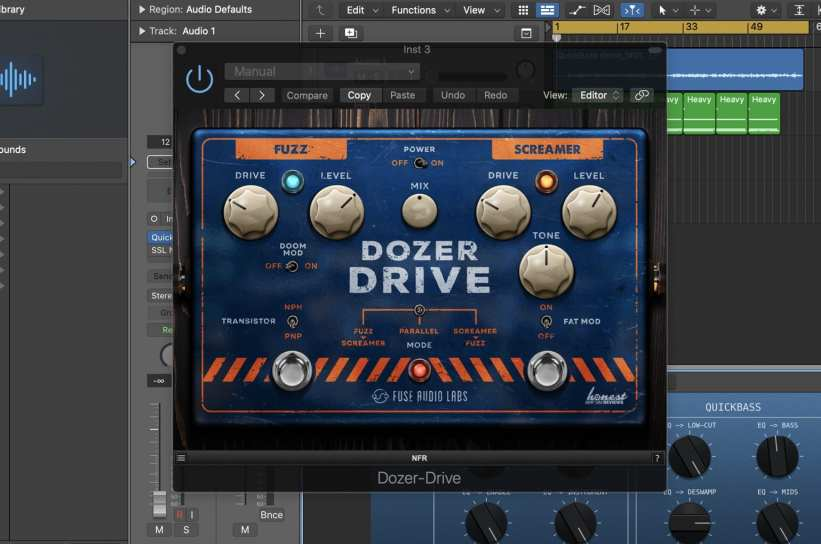 Fuse Audio Labs Dozer-Drive in Logic Pro X