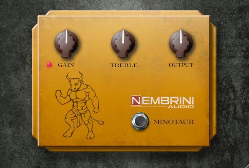 Nembrini Audio's Minotaur Transparent Overdrive is modeled on The Klon Centaur