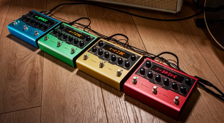 The first effect pedals from IK Multimedia - Amplitube X-GEAR