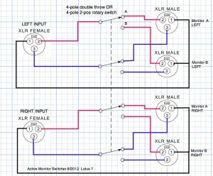 Help me build an XLR to XLR14 AB footswitch  Gearslutz Pro Audio Community