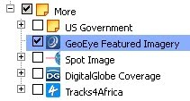 GeoEye Featured Imagery layer