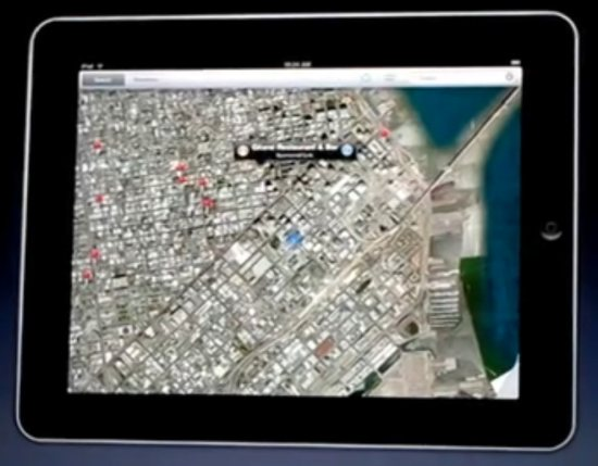 Google Maps on the iPad