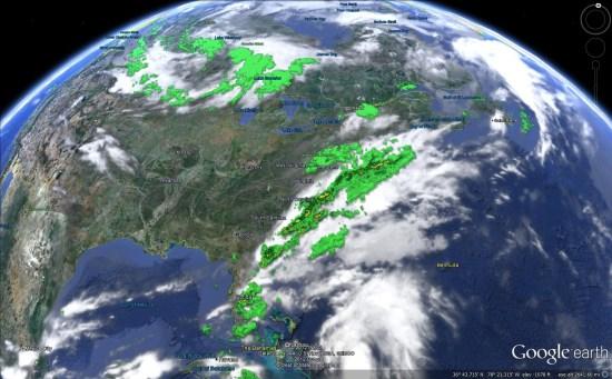 google earth weather
