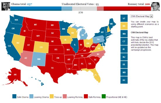 Mapping the 2012 US Presidential Election - Google Earth Blog